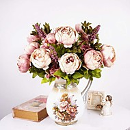 1 Bouquet Artificial Peony Peonies Flowers 8 Heads Silk Flower Wedding Christmas Home Party Decor European Style Large
