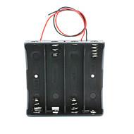 billige -14,8V 4 * 18650 batteriholder tilfælde kasse med ledninger - sort