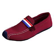 baratos Sapatos Masculinos-Homens Sapatos Lona / Tecido Primavera / Verão / Outono Sem Salto Preto / Vermelho / Azul / Festas & Noite