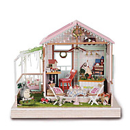 cheap -CUTE HOUSE Model Building Kits Wood Model Toys DIY Wood Pieces