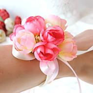 Wedding Flowers Wrist Corsages / Unique Wedding Décor Special Occasion / Party / Evening Bead / Satin / Cotton 0-20cm