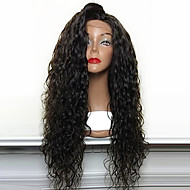 Hot Selling 180% Density Loose Curly Natural Black Synthetic Lace Front Wigs High Heat Resistant Synthetic Hair Wigs