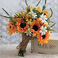 Wedding Flowers Free-form Lilies Sunflower Bouquets Wedding Multi-color Satin