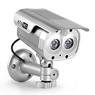 KingNEO 305S Outdoor/Indoor Solar Powered Dummy Security Camera Simulated Surveillance Camera with Flash LED 1pc Silver