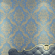 Damast Behang Luxueus Behangen , Ongeweven papier Materiaal lijm nodig behang , kamer Wallcovering