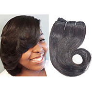 "Human Hair Extension Body Wave Human Hair 8"" 4pieces/lot #1B Hair Weaves"