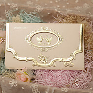 Tre Fold Bryllupsinvitasjoner 50 - Invitasjonskort Klassisk Stil Perle-papir 7.2*5 tommer (ca. 18*13cm)