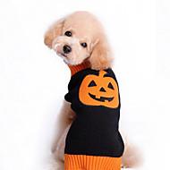 Gato Cachorro Súeters Roupas para Cães Fofo Dia Das Bruxas Abóbora Preto Ocasiões Especiais Para animais de estimação