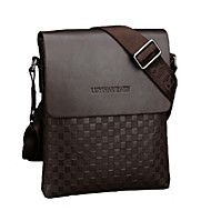 Men Bags PU Shoulder Bag for Shopping Casual Outdoor Office & Career Fall Black Coffee