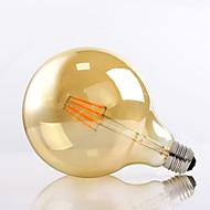 1pcs g125 8w e27 650lm 2700k 360 grade led lumina filamentului g40 vintage bec de sticlă edison (220-240v)
