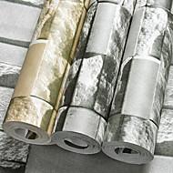 3D Tapet til Hjemmet Moderne Tapetsering , PVC/Vinyl Materiale selvklebende nødvendig bakgrunns , Tapet