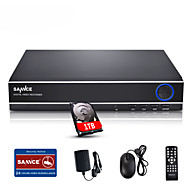 baratos Placas de captura de vídeo digital DVRs & DVR-sannce® 4ch 720p multi-modo DVR entrada ecloud HDMI / VGA / sistema de CCTV BNC 1080p built-in HDD de 1TB
