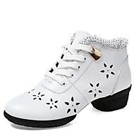 preiswerte Dance Boots-Damen Schuhe für modern Dance Leder Sneaker / Gespaltene Sole Draussen Schnürsenkel Niedriger Heel Keine Maßfertigung möglich Tanzschuhe