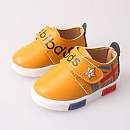 Chlapecké Děti Sandály První botičky Kůže Jaro Léto Ležérní Šaty První botičky Černá Žlutá Červená
