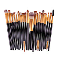 20pcs pro sombra de maquiagem pincel set set de pó eyeliner labial cosmético escova conjunto