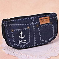 Cute Denim Shorts Large Capacity Pencil Case