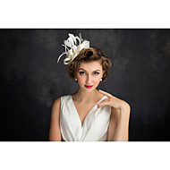 cheap Wedding Headpieces-Flax Feather Net Fascinators 1 Special Occasion Headpiece