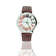 Dámské Pro páry Módní hodinky Křemenný S dutým gravírováním Hodinky na běžné nošení PU Kapela Černá Hnědá Bílá Černá Hnědá Zlatá