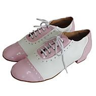 billige Moderne sko-Dame Swingsko Lær / Lakklær / Kunstlær Høye hæler Snøring Lav hæl Kan spesialtilpasses Dansesko Svart / Rød / Rosa / Innendørs / Ytelse