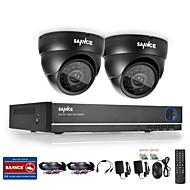 4HD 1280 * 720tvl屋外の防犯カメラでsannce®4chの720pのdvrの監視システム
