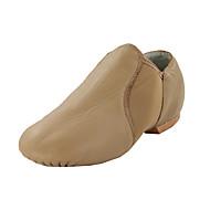 billige Jazz-sko-Dame Jazz-sko / Dansestøvler Kunstlær Flate Flat hæl Kan ikke spesialtilpasses Dansesko Svart / Brun / Innendørs