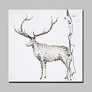 billiga Djurporträttmålningar-handen målade älg oljemålning modern abstrakt väggkonst bilder med sträckt ram redo att hänga