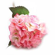 1 Gren Silke PU Roser Hortensiaer Bordblomst Kunstige blomster