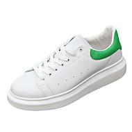 tanie Obuwie męskie-Męskie Buty PU Wiosna Jesień Comfort na Casual Na wolnym powietrzu White Black Green