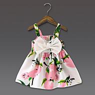 Bébé Fille Fleur / Noeud Quotidien Fleur Sans Manches Polyester Robe Jaune