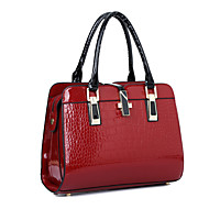 Women Bags All Seasons PU Patent Leather Tote for Shopping Casual Formal Office & Career Black Beige Blue Wine