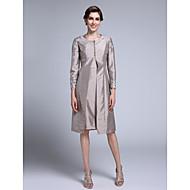 Fourreau / Colonne Encolure dégagée Mi-long Taffetas Robe de Mère de Mariée  avec Appliques par LAN TING BRIDE®