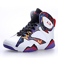 ユニセックス バスケットボール 靴 レザーレット ブラック / パープル / レッド / ホワイト