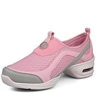 billige Dansesneakers-Dame Moderne sko Syntetisk Joggesko Lav hæl Kan ikke spesialtilpasses Dansesko Grå / Rosa