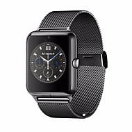 tanie Inteligentne zegarki-Męskie / Damskie Inteligentny zegarek Cyfrowe Ekran dotykowy / Pilot / Kalendarz / alarm / Krokomierz / Opaski fitness / StoperStal