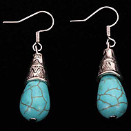 cheap Jewelry-Women's / Girls' Drop Silver Plated - Vintage / Bohemian Blue Geometric Earrings For Casual