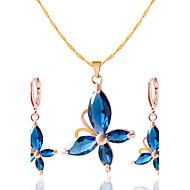 Mulheres Conjunto de jóias Brincos Colares - Colar / Brincos Para Casamento Festa Diário Casual
