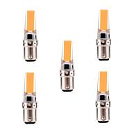 billige Bi-pin lamper med LED-YWXLIGHT® 5pcs 5W 400-500 lm BA15d LED-lamper med G-sokkel T 1 leds COB Mulighet for demping Dekorativ Varm hvit Kjølig hvit AC 220-240V