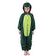 Børne Kigurumi-pyjamas Dinosaur Onesie-pyjamas Polarfleece Grøn Cosplay Til Drenge og piger Nattøj Med Dyr Tegneserie Halloween Festival / Højtider