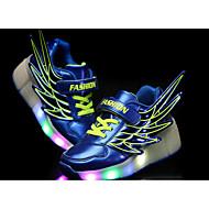 olcso -Fiú Cipő PU Nyár Görkorcsolya cipők / Világító cipők Tornacipők Gyalogló Lapos LED Narancssárga / Fukszia / Tengerészkék