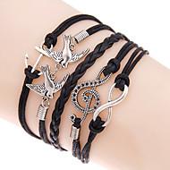 Heren Dames Wikkelarmbanden loom Bracelet Dubbele laag Bohemia Style Verstelbaar Legering Geometrische vorm Liefde Anker Sieraden Voor