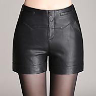 Dámské Sexy / Jednoduché / Roztomilé Šortky Umělá kůže Lehce elastické Kalhoty