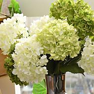 1 bouquet de flores de flores artificiais de hortênsias de seda Decoração de casa Bouquet de casamento