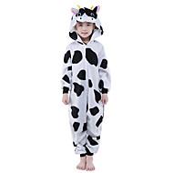Kigurumi plišana pidžama Krava Onesie pidžama Kostim Flis Crn Cosplay Za Dijete Zivotinja Odjeća Za Apavanje Crtani film Noć vještica