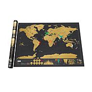 preiswerte Pädagogisches Spielzeug-the World for Travelers Weltkarten zum Ausmalen Karte Spaß Papier Familie Klassisch