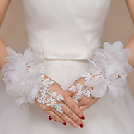 cheap Wedding Gloves-Lace Polyester Wrist Length Glove Bridal Gloves Party/ Evening Gloves With Rhinestone Floral