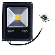 50W RGB IP65 luz de cor levou luz de inundação holofote casca preta (85-265V)