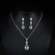 Women's Jewelry Set Fashion Include Necklace / Earrings Bridal Jewelry Sets Silver For Wedding Party