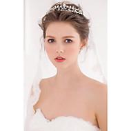 billiga Brudhuvudbonader-Oäkta pärla / Legering Tiaras / pannband / kransar med 1 Bröllop / Speciellt Tillfälle / Casual Hårbonad
