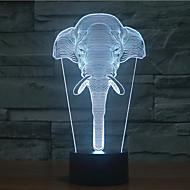 éléphant tactile gradation 3d led nuit lumière 7colorful décoration atmosphère lampe nouveauté éclairage lumière