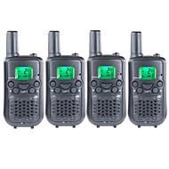 billige Walkie-talkies-frs / gmrs duarable håndholdte toveis radioer for barn barn bruker walkie talkie 22 kanaler 38ctcss opp til 6km (2 par)